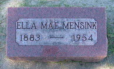 MENSINK, ELLA MAY - Sioux County, Iowa | ELLA MAY MENSINK