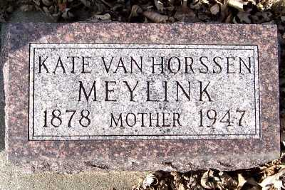 VANHORSSEN MEYLINK, KATE - Sioux County, Iowa | KATE VANHORSSEN MEYLINK