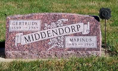 MIDDENDORP, MARINUS - Sioux County, Iowa | MARINUS MIDDENDORP