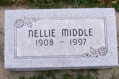MIDDLE, NELLIE (1908-1997) - Sioux County, Iowa | NELLIE (1908-1997) MIDDLE