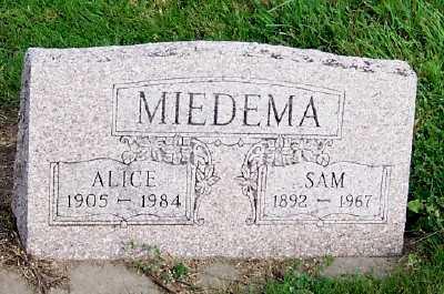 MIEDEMA, ALICE - Sioux County, Iowa | ALICE MIEDEMA