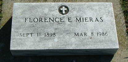 MIERAS, FLORENCE E. - Sioux County, Iowa | FLORENCE E. MIERAS