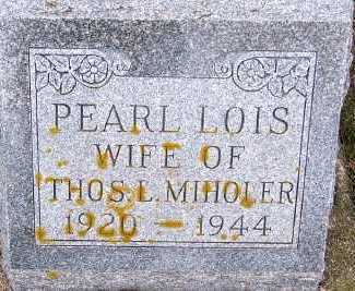MIHOLER, PEARL LOIS (MRS. THOS. L.) - Sioux County, Iowa | PEARL LOIS (MRS. THOS. L.) MIHOLER