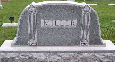 MILLER, HEADSTONE - Sioux County, Iowa | HEADSTONE MILLER