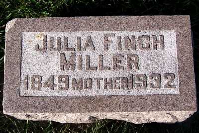 FINCH MILLER, JULIA - Sioux County, Iowa | JULIA FINCH MILLER