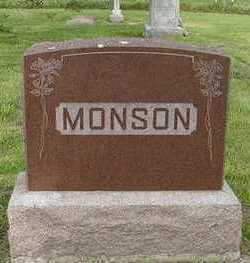 MONSON, HEADSTONE - Sioux County, Iowa | HEADSTONE MONSON