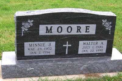 MOORE, MINNIE J. - Sioux County, Iowa | MINNIE J. MOORE