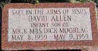 MOORLAG, DAVID ALLEN - Sioux County, Iowa   DAVID ALLEN MOORLAG
