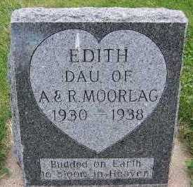 MOORLAG, EDITH (DAU OF A. & R.) - Sioux County, Iowa | EDITH (DAU OF A. & R.) MOORLAG