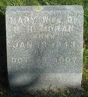 MORAN, MARY (MRS. P. H.) - Sioux County, Iowa | MARY (MRS. P. H.) MORAN