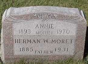 MORET, ANNIE (MRS. HERMAN) - Sioux County, Iowa | ANNIE (MRS. HERMAN) MORET