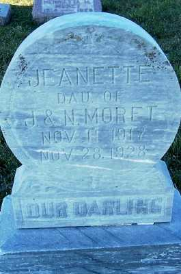 MORET, JEANETTE (DAU OF J.& N.) - Sioux County, Iowa | JEANETTE (DAU OF J.& N.) MORET