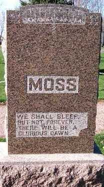 MOSS, HEADSTONE - Sioux County, Iowa | HEADSTONE MOSS