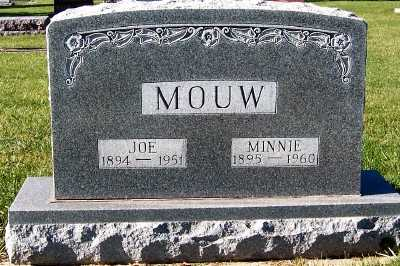 MOUW, MINNIE - Sioux County, Iowa | MINNIE MOUW