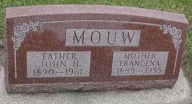 MOUW, FRANCENA (MRS. JOHN H.) - Sioux County, Iowa | FRANCENA (MRS. JOHN H.) MOUW