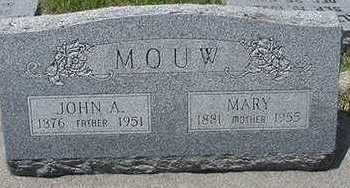 MOUW, MARY - Sioux County, Iowa | MARY MOUW