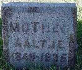MULDER, AALTJE - Sioux County, Iowa | AALTJE MULDER