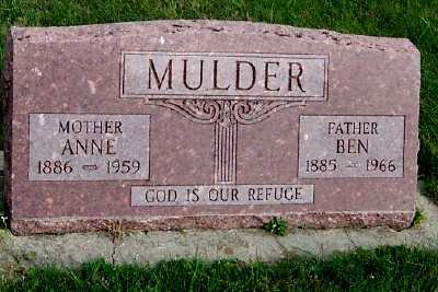 MULDER, ANNE - Sioux County, Iowa | ANNE MULDER