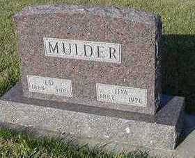 MULDER, IDA (MRS. ED) - Sioux County, Iowa | IDA (MRS. ED) MULDER