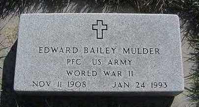 MULDER, EDWARD BAILEY - Sioux County, Iowa | EDWARD BAILEY MULDER