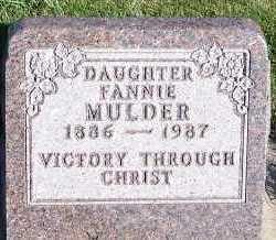 MULDER, FANNIE - Sioux County, Iowa   FANNIE MULDER