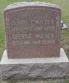 MULDER, GERRIT Y. - Sioux County, Iowa | GERRIT Y. MULDER