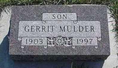 MULDER, GERRIT D.1997 - Sioux County, Iowa | GERRIT D.1997 MULDER