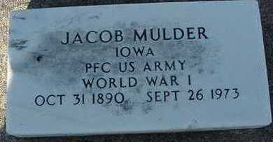 MULDER, JACOB - Sioux County, Iowa | JACOB MULDER