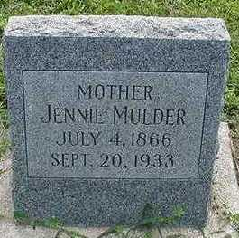 MULDER, JENNIE  D. 1933 - Sioux County, Iowa | JENNIE  D. 1933 MULDER
