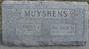 MUYSKENS, DICK  H. REV. - Sioux County, Iowa | DICK  H. REV. MUYSKENS