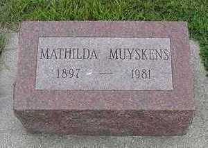 MUYSKENS, MATHILDA - Sioux County, Iowa | MATHILDA MUYSKENS