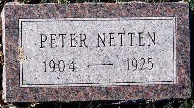 NETTEN, PETER - Sioux County, Iowa | PETER NETTEN