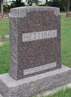 NETTINGA, HEADSTONE - Sioux County, Iowa | HEADSTONE NETTINGA