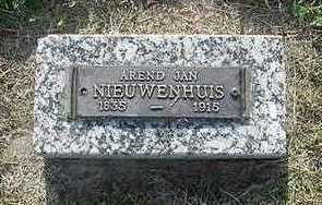 NIEUWENHUIS, AREND JAN - Sioux County, Iowa | AREND JAN NIEUWENHUIS