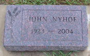 NYHOF, JOHN - Sioux County, Iowa | JOHN NYHOF