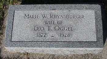 RHYNSBURGER OGGEL, MARIE W.  (MRS. LEO) - Sioux County, Iowa | MARIE W.  (MRS. LEO) RHYNSBURGER OGGEL