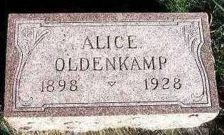 OLDENKAMP, ALICE - Sioux County, Iowa | ALICE OLDENKAMP