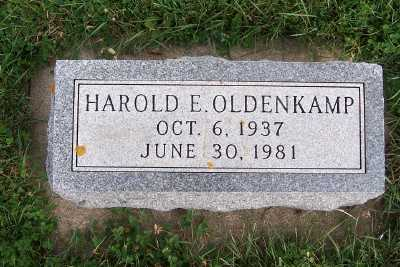 OLDENKAMP, HAROLD E. - Sioux County, Iowa | HAROLD E. OLDENKAMP