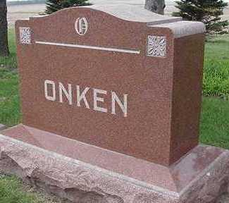 ONKEN, HEADSTONE - Sioux County, Iowa | HEADSTONE ONKEN
