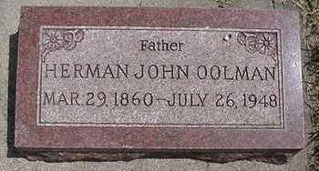 OOLMAN, HERMAN JOHN - Sioux County, Iowa | HERMAN JOHN OOLMAN