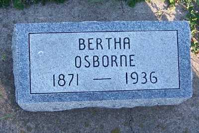OSBORNE, BERTHA - Sioux County, Iowa | BERTHA OSBORNE