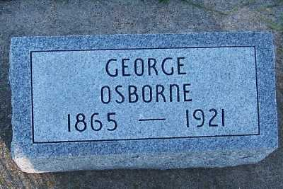 OSBORNE, GEORGE - Sioux County, Iowa | GEORGE OSBORNE