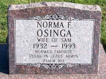 OSINGA, NORMA (MRS. SAM) - Sioux County, Iowa | NORMA (MRS. SAM) OSINGA