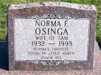 OSINGA, NORMA (MRS. SAM) - Sioux County, Iowa | NORMA (MRS. SAM) OSINGA