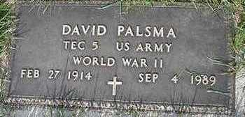 PALSMA, DAVID (MILITARY) - Sioux County, Iowa | DAVID (MILITARY) PALSMA