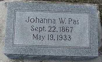 PAS, JOHANNA W. - Sioux County, Iowa | JOHANNA W. PAS