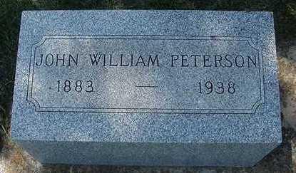 PETERSON, JOHN WILLIAM - Sioux County, Iowa | JOHN WILLIAM PETERSON