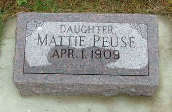 PEUSE, MATTIE - Sioux County, Iowa | MATTIE PEUSE