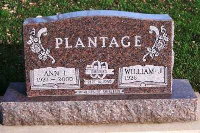 PLANTAGE, ANN I. - Sioux County, Iowa | ANN I. PLANTAGE