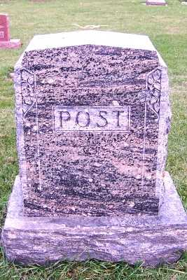 POST, HEADSTONE - Sioux County, Iowa | HEADSTONE POST